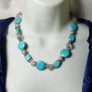Vintage Turquoise Stone Necklace